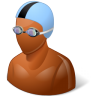 96x96px size png icon of Sport Swimmer Male Dark
