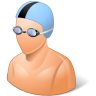 96x96px size png icon of Sport Swimmer Male Light