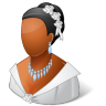 96x96px size png icon of Wedding Bride Dark