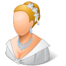 96x96px size png icon of Wedding Bride Light