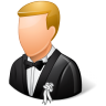 96x96px size png icon of Wedding Groom Light