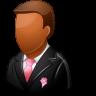 96x96px size png icon of Wedding Groomsman Dark