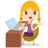 96x96px size png icon of callcenter girls blonde