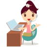 96x96px size png icon of callcenter girls flower