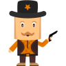 96x96px size png icon of cowboy