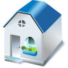 96x96px size png icon of One storied house