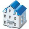 96x96px size png icon of Two storied house
