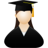 96x96px size png icon of Graduate female