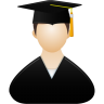 96x96px size png icon of Graduate male