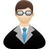 96x96px size png icon of Teacher male