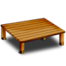 96x96px size png icon of Wood Desk