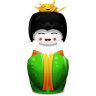 96x96px size png icon of Geisha China green