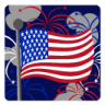 96x96px size png icon of Independence Day 3 Flag Fireworks