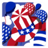 96x96px size png icon of Independence Day 5 Hat Balloons