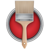96x96px size png icon of Paint Bucket Can Brush