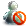96x96px size png icon of blocked offline