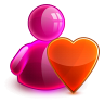96x96px size png icon of love girl
