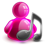 96x96px size png icon of music girl