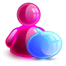 96x96px size png icon of talking girl