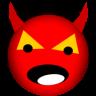 96x96px size png icon of satan devil