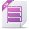 96x96px size png icon of rar