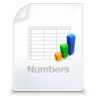 96x96px size png icon of numbers