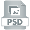 96x96px size png icon of Filetype PSD