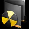 96x96px size png icon of Burn Folder Black