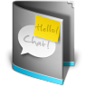 96x96px size png icon of Chat Folder