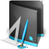 96x96px size png icon of Designs Folder Black