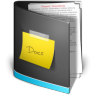96x96px size png icon of Documents Folder Black