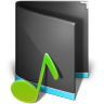 96x96px size png icon of Music Folder Alta Black