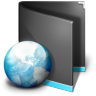 96x96px size png icon of Net Folder Black