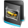 96x96px size png icon of Pictures Folder Black