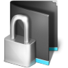96x96px size png icon of Private Folder Black