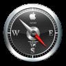 96x96px size png icon of Safari Black