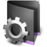 96x96px size png icon of Smart Folder Black