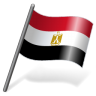 96x96px size png icon of Egypt Flag 3