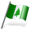 96x96px size png icon of Norfolk Island Flag 3