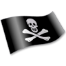 96x96px size png icon of Pirates Jolly Roger Flag 2