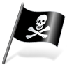 96x96px size png icon of Pirates Jolly Roger Flag 3