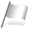 96x96px size png icon of Solid Color White Flag 3