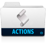 96x96px size png icon of action folder