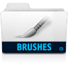 96x96px size png icon of brushes folder
