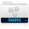 96x96px size png icon of shapes folder