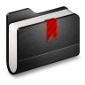 96x96px size png icon of Bookmark Black Folder