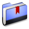 96x96px size png icon of Bookmark Blue Folder