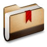 96x96px size png icon of Bookmark Brown Folder