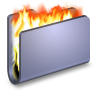 96x96px size png icon of Burn Blue Folder