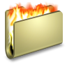96x96px size png icon of Burn Folder